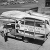 A one-piece all-plastics boat, molded in Pittsfield here by the GE plastics division for the Beetle Boat Company of New Bedford.  Circa 1945