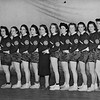 Photo of woman's basketball team with GE logos, undated.
