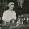 Edith Babcock working at General Electric, undated photo.