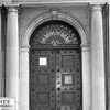 Doorway to the Berkshire museum on South Street in Pittsfield, 1957.