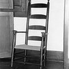 Shaker chair at Hancock Shaker Village, undated. Photo by Bernard Drew.