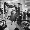 Fashion show at England Brothers Department Store in Pittsfield, May, 1958. Photo by William Tague.