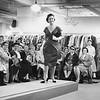 Fashion show at England Brothers Department Store in Pittsfield, October, 1958. Photo by William Tague.
