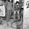 Love Canal3- homes- Mr. & Mrs. Tolli, 481 101st street watch toxic sludge bubble up from the sump pump. 1978