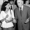 Love Canal4- gibbs- Nwe York State Gov. Hugh Carey speaks with Love Canal mother turn activist Lois Gibbs on Aug. 7th 1978 in the Love Canal area.