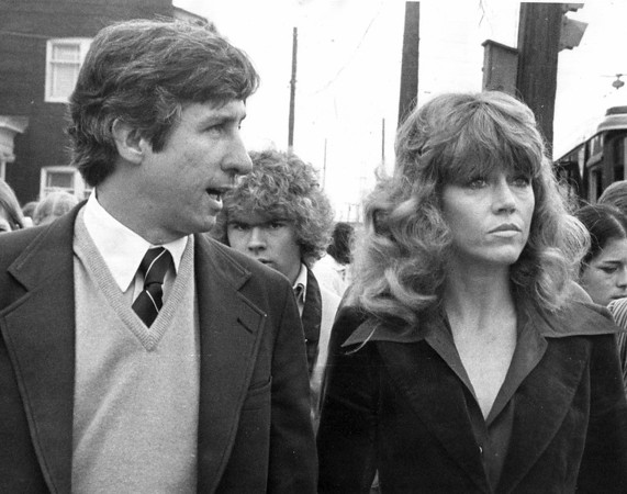 Love Canal7-protest-Actress Jane Fonda and activist Tom Hayden tour the Love Canal area on Oct. 4, 1979.
