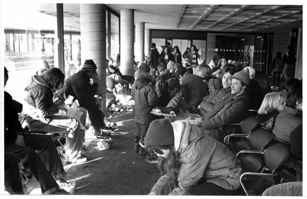 Convention Center Plaza<br /> Lackey Plaza - Warming Area.<br /> Photo - By Andrew J. Susty - 12/27/1978.