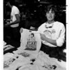 Niagara Falls, Stunters, Steven Trotter - Steven with t-shirts at the Rainbow Mall. Aug 31, 1983 Tim Johnson Photo.