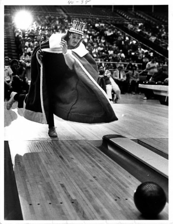 Convention Center - Bookings<br /> Bowling<br /> Joe Bowler<br /> John List from Baltimore, Maryland.<br /> Photo - By Ron Schifferle - 2/12/1983.