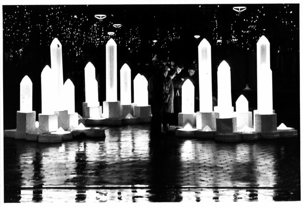 Christmas - Festival of Lights <br /> Chrystal Forest by Kim Yarwood.<br /> Photo - By Ron Schifferle - 1985.
