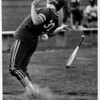 Sports - Softball<br /> Lew-Ports Jodi Kilmer #30 gets hit by a throw the pitcher made from North Tonawanda in the 4th inning.<br /> Photo - By Elisa Olderman - 5/9/1990.