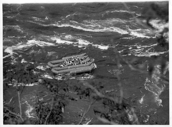 Niagara River - Raft Ride<br /> Photo - By Niagara Gazette - 9/26/1972.