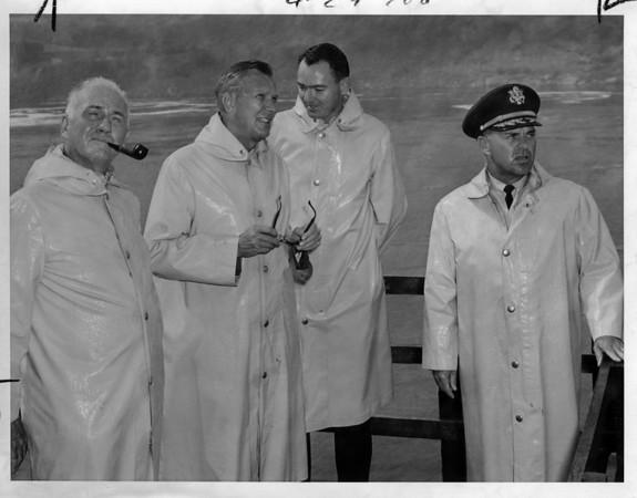 Niagara Falls - Remedial Work 1966.<br /> Thompson, Johnson, Wilkson, NEFF<br /> Photo - By Niagara Gazette - 9/20/1966.