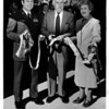 Banks<br /> Left to right - Col. Roy Ayers, John Orr, and Lewiston Mayor Marilyn Toohey.<br /> Photo - By L. C. Williams - 9/28/1981.