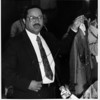 Organizations - Rev. Johnny Hunter.<br /> Rev. Johnny Hunter said Hangers should be for clothes at a Press Conference at St John Maron Church.<br /> Photo - By James Neiss - 4/20/1992.