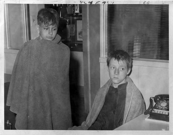 Niagara River - Rescues<br /> Richard Miller and Gary Pickel.<br /> Photo - By Niagara Gazette - 5/12/1970.