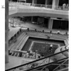 Buildings - Niagara Falls<br /> Rainbow Mall<br /> Fountain area from 2nd floor - base of escalator, at right part of escaator in foreground.<br /> Photo - By L. C. Williams - 6/22/1982.