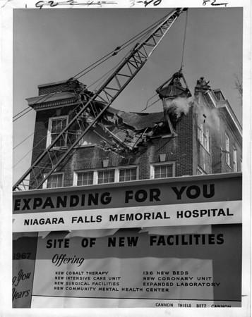 Hospitals - Niagara Falls<br /> Niagara Falls Memorial Hopital coming soon.<br /> Photo - By Niagara Gazette - 3/5/1969.