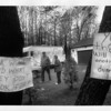 Forest Glen - Toxic Waste<br /> Norman and Maude Siegfried wait for the march to begin in Forest Glen. They have lived in this area for 5 1/2 years.<br /> Photo - By Elisa Olderman - 5/5/1990.