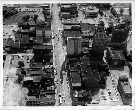 Niagara Falls, City, Ariel View October 10, 1971 Falls Street Falls St.