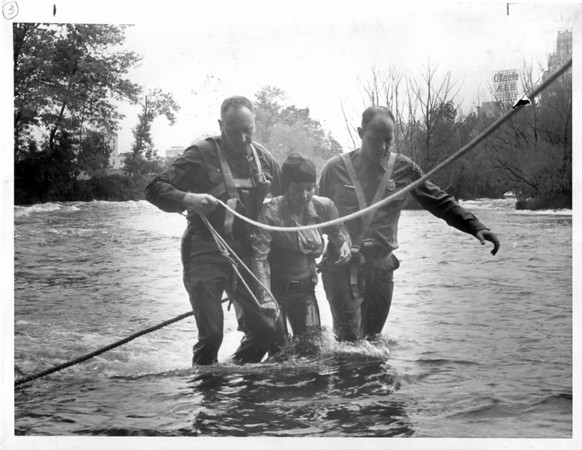 Niagara River - Rescues<br /> Photo - By Niagat Gazette - 10/7/1972.