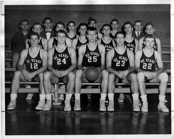 Sports - Basketball<br /> Photo - By Phil Davis - 3/8/1956.