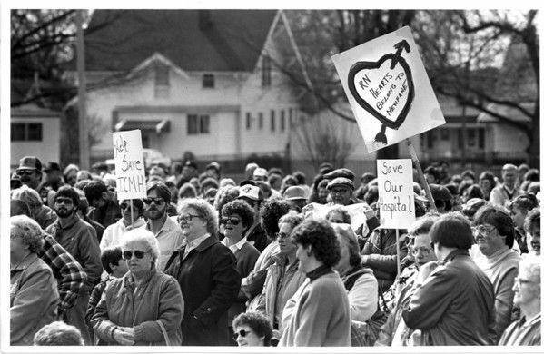 Hospitals - Newfane Intercommunity<br /> Community members gathered together to show their support to heelp save the Newfane Community Hospital.<br /> Photo - By Lisa Massey - 3/29/187.