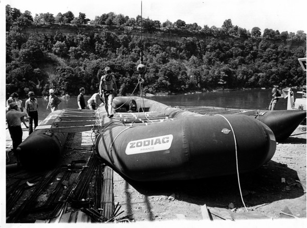 Niagara River - Raft Ride<br /> Photo - By Dan Shubsda - 9/27/1975.