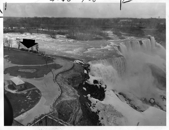 Niagara Falls - Remedial Work, 1966<br /> Photo - By Niagara Gazette - 4/5/1966.