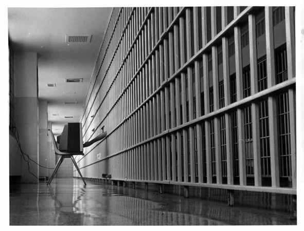 prisons - Niagara County Jail<br /> What some of the inmates will be doing on Christmas Day - watchin Television.<br /> Photo - By Andrew J. susty - 12/17/1981.