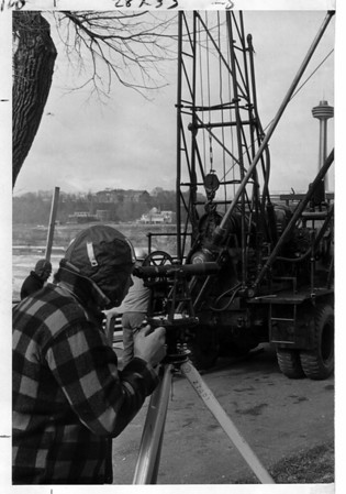 Niagara Falls - Remedial Work, 1966<br /> Photo - By Niagara Gazette - 4/5/1966.