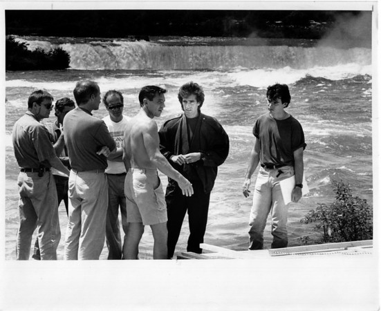 Niagara Falls, Films - David Copperfield fims illusion at falls. Ron Schifferle photo 7/31/1989.