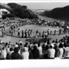Art Park Dance - Children and Adults formed a giant circle dance to the Chasers' catche accompaniment. July 15, 1976