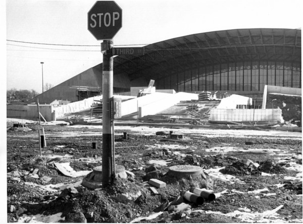 Convention Center - Construction<br /> Convention Center Plaza Under Construction.<br /> Photo - By Jerry Lasher - 2/22/1975.