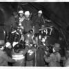 Railroads - 1976<br /> Passing down one of injured trainmen.<br /> Photo - By Al Shoen - 1/28/1976.