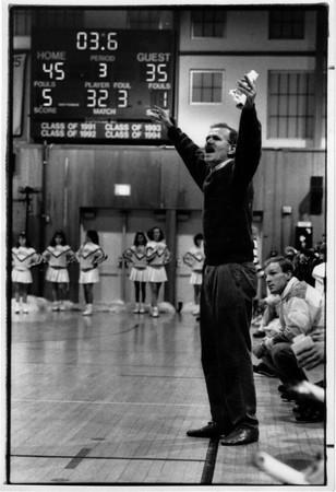 Sports - Patrick Monti<br /> Patrick Monti former LaSalle Boys Varsity Basketball Coach.<br /> Photo - By James Neiss - 2/11/1992.