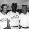 Sports - Baseball<br /> Bisons<br /> From left to right - Len Johnston (Coach), Hector Lopez (Manager), and Bruce Beaupit (trainer).<br /> Hector Lopez was the first black Manager in an Internation Baseball Leaugue.<br /> Photo - By Niagara Gazette - 1968
