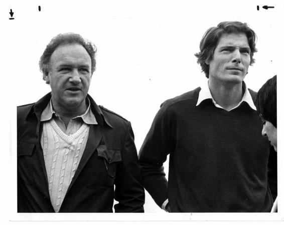 Niagara Falls, Film - Gene Hackman & Christopher Reeve filming Superman II May 29, 1981 - L. C. Williams Photo.