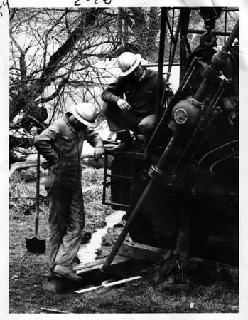 Niagara Fals - Remedial Work, 1966.<br /> Photo - By Niagara Gazette - 4/18/1966.