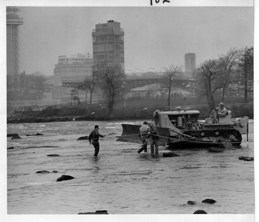 Niagara Falls - Remedial Work. 1966<br /> Photo - By Niagara Gazette - 11/13/1966.