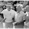 Sports - Baseball<br /> From left to right - Bernie Shankhan, Dan DeSantis, Anthony Dangelo, and Stanley Bank.<br /> Photo - By Bob Bukaty - 8/20/1983.