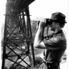 Police - Patrol Agent<br /> Patrol Agent P. F. Hoelter U.S. Border Patrol Checking the lower gorge under the Canadian Rail Road Bridge.<br /> Photo - By Ron Schifferle - 9/11/1987.