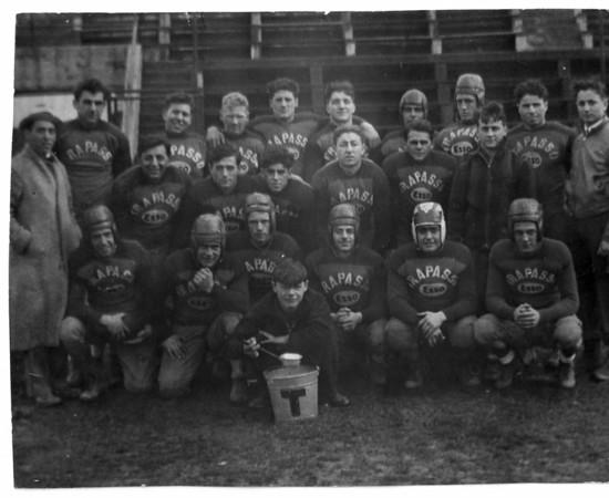Sports - Football<br /> Trapasso Esso's City Champions of 1935.<br /> Photo - By Niagara Gazette - October 1935.