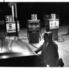 Gas Stations - Niagara Falls<br /> Terry Zinko pumping gas at Amoco Gas Station on Hyde Park Blvd. Price of gas indicated is for 1/2 gal. making the 55 9 regular 111 9 per gal. 61 9 = 113 7 per gallon.<br /> Photo - By David Bruce Lester - 12/27/1979.