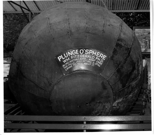 Niagara Falls, Stunters, Pluge O'Sphere, WM. Fitzgerald PH.D. July 15, 1961 Plundge.