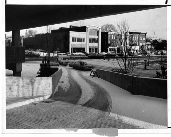 Parking - Parking Ramp.<br /> Parking Ramp on 3rd Street at LaSalle Arterial.<br /> Photo - By L. C. Williams - 1/17/1975.