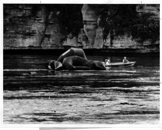 Niagara River - Raft Ride<br /> Raft Ride at Niagara River.<br /> Photo - By Dan Shubsda - 9/3/1975.
