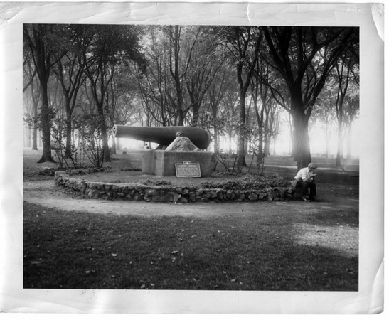 Parks - Porter Park<br /> A cannon representing the French Landing.<br /> Photo - Niagara Gazette