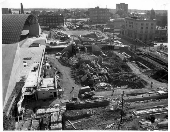 Convention Center Plaza<br /> Plaza under construction<br /> Photo - By Jerry Lasher - 10/18/1974.