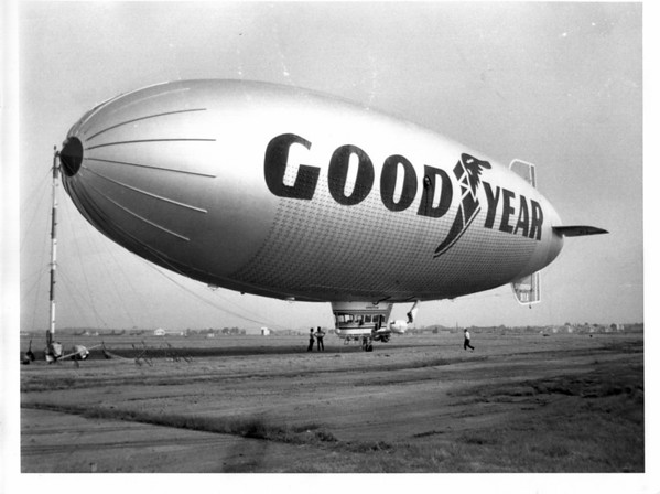 Airplanes - Good Year Blimp<br /> Photo - By L. C. Williams - 6/18/1982.